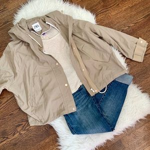 Zara Jackets & Coats - Army Green Zara Windbreaker
